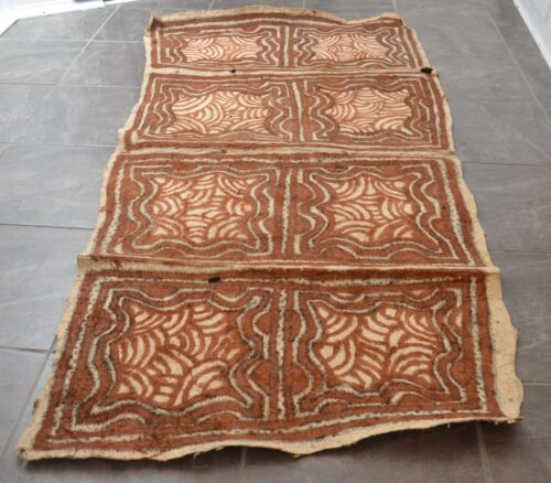 OLD TRADITIONAL TAPA BARK CLOTH ORO PROVINCE NEW GUINEA