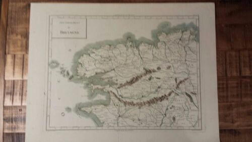 VERY NICE, ANTIQUE Hand Colored map of Britain - P. Tardieu, c.1790