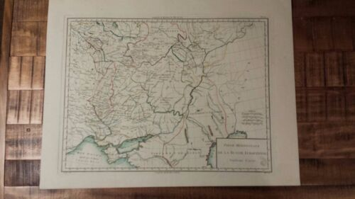 VERY NICE, ANTIQUE Hand Colored map of Russia, South. Part - P. Tardieu, c.1790