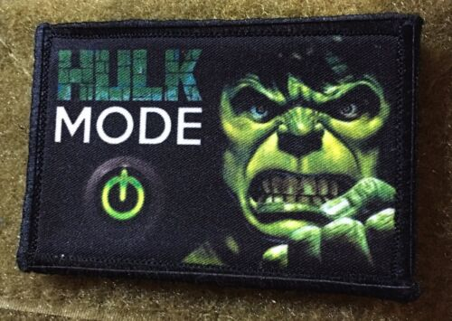 Hulk Mode Morale Patch Tactical Military Tactical Army Hook Badge Flag USA Army - 48824