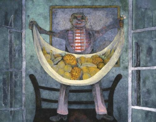Tamayo Rufino Offering Of Fruits Canvas 16 x 20    #3079