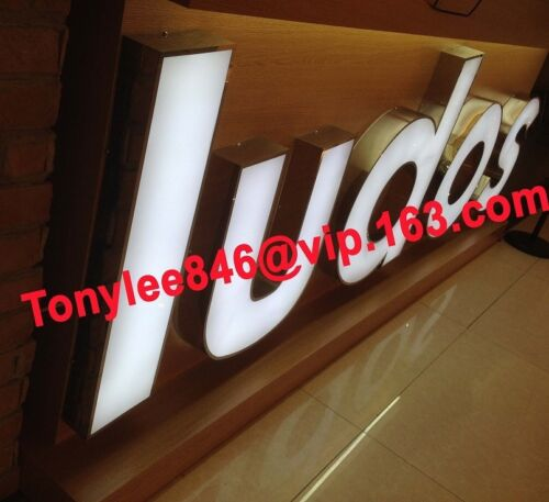 arylic sign,vintage channel letter with frontlit,waterproof led.12 inches tall