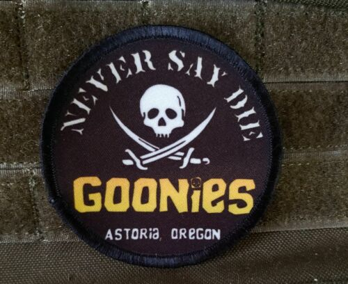 Goonies Never Say Die Pirate Skull Morale Patch Funny Military Tactical Army USAArmy - 48824