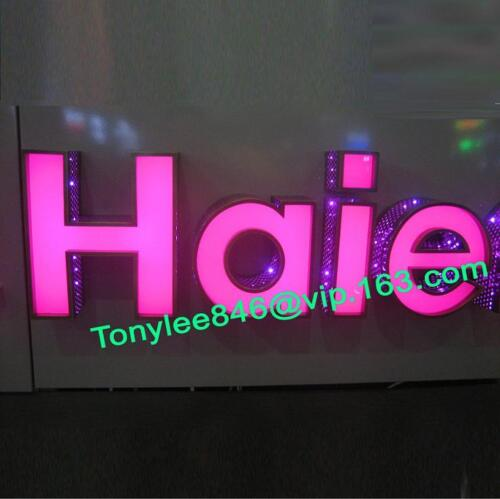 Custom Acrylic LED Sign Letters,Stainless Steel Letter Signage,outdoor sign 10''