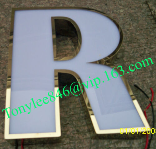 Custom size Acrylic LED Sign Letters,Stainless Steel Signage,Neon SIGN ON DECOR