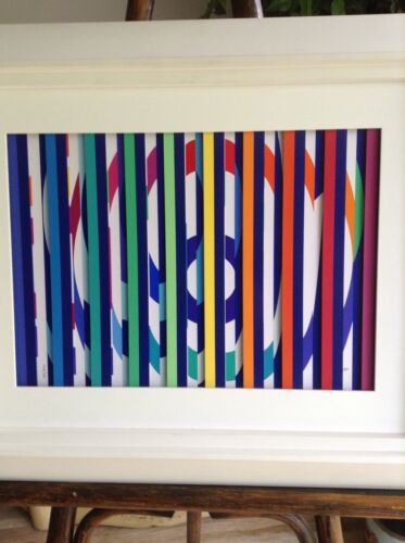 Yaacov Agam Multigraph With Serigraph Coa Signed Numbered Art Park West Gallery