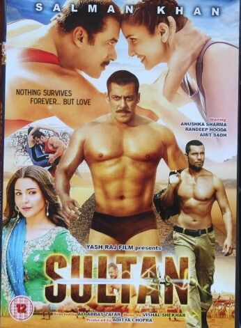 SULTAN HINDI BOLLYWOOD MOVIE (2016) DVD HIGH QUALITY PICTURE& SOUNDS SALMAN KHAN