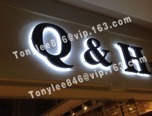 Outdoor LED sign with backlight, made by stainless steel and waterproof LED