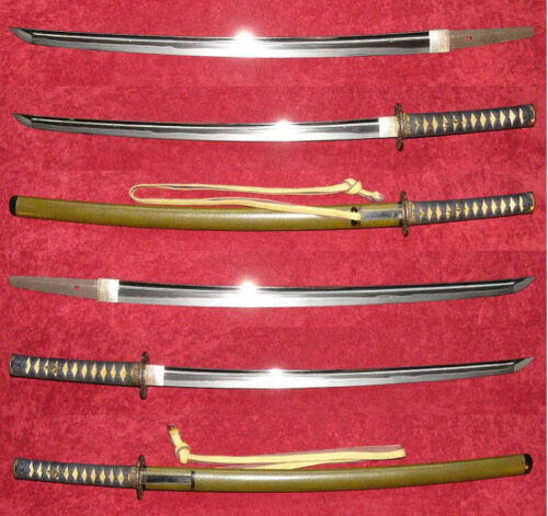 Minamoto Masayasu Wakizashi w/ Koshirae Authentic Nihonto Antique Japanese Sword