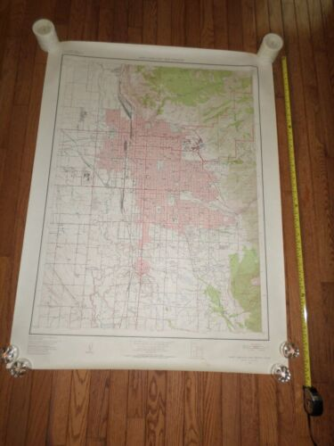 Fantastic, very large colored map of Salt Lake City (1952) Scarce!
