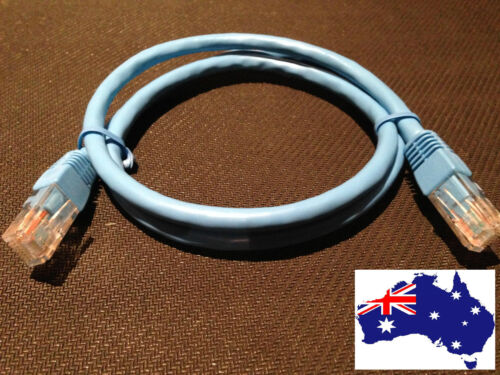 1m Cat6 Ethernet Network LAN Cable Patch Lead With RJ45 Connector At Each End