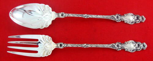 Whiting LILY Sterling Silver LONG-HANDLED SALAD SET,N.M