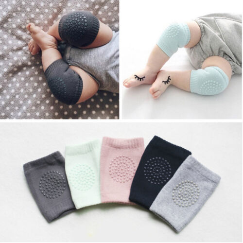 Baby Kids Socks Safety Knee Pads Infant Toddler Short Kneepad Crawling Protector