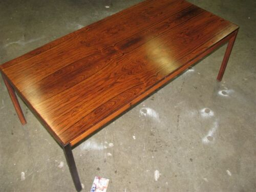 60's Scandinavian Rosewood Coffee Table, Elegant Mid-Century Simplicity