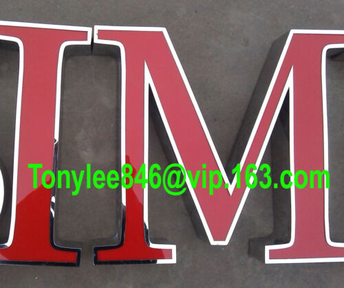 Custom size frontlit stainless steel Sign,Neon Signs,Channel letter led sign