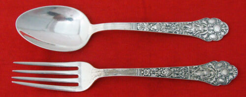 MEDICI OLD by Gorham Sterling Silver FORK & SPOON YOUTH SET, Mono