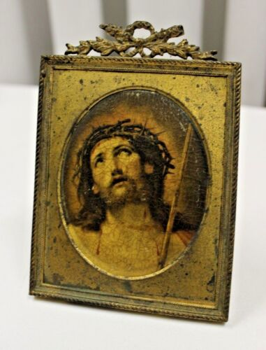1850's Jesus Christ Painting Ambrotype / Extremely Rare / Haunting image
