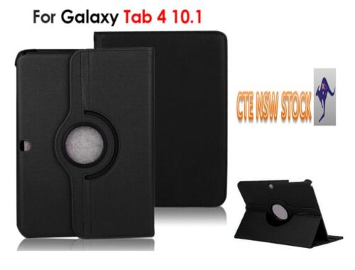 Rotating 360 Case Cover SM-T530 Tablet  Elegant For Samsung Galax color in black