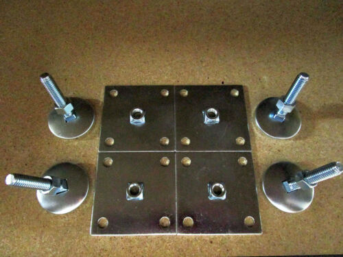 """2"""" Leg Levelers Set of 4 Heavy Duty w/ Base Plate for Arcade Game Cabinets"""