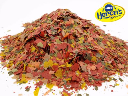 HERONS Tropical Flakes PREMIUM TROPICAL FISH FOOD Guppy Tetra Neon Cichlid Betta <br/> Premium 7-flake mix + Does not cloud water + Top price