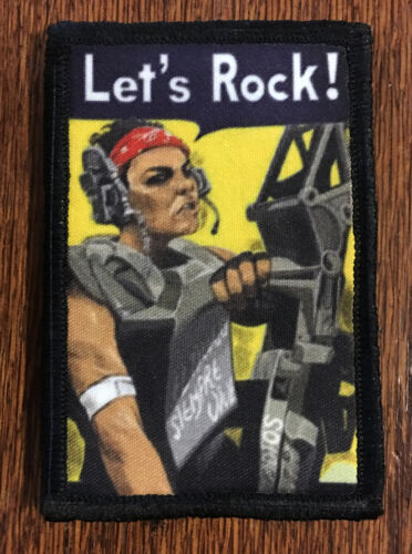 Aliens Vasquez  Let's Rock Morale Patch Colonial Marines Tactical Military FlagArmy - 48824
