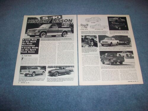 """1982-93 Chevy S-10 First Generation Info Article """"S-10 History Lesson"""" Blazer"""