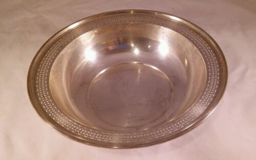 Webster Sterling Silver Pierced Bowl 9 Inches Diameter