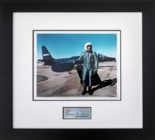 Framed Photograph of Francis Gary Powers w/ Authentic Signature - Pilot of U-2