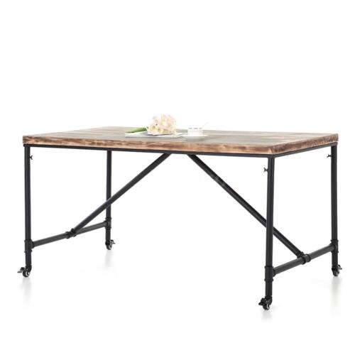 Antique Vintage Kitchen Dining Breakfast Table Metal Meeting Table Desk R7S8