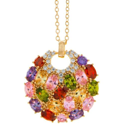 16'' Rose Gold Plated Necklace w/ Sea Inspired Pendant w/ Crystals by Matashi
