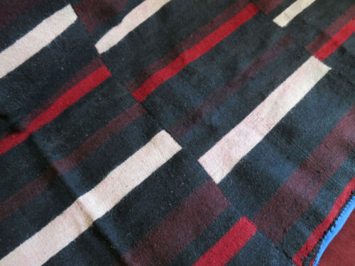 """Antique Hand Woven Dolpo, Nepalese Blanket, Abstract Tribal Design 51""""x 33"""""""