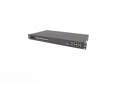 APC AP5401 16-PORT CAT5 ANALOG KVM SWITCH NETWORKING CONSOLE PORT KEYBOARD MOUSE