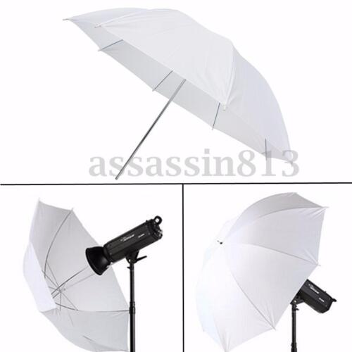 "43"" Umbrella Translucent Diffuser For Photo Studio Lighting Stand Kit Soft White"