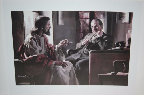 Harry Anderson DIVINE COUNSELOR 13x18 Poster, Jesus Counseling Businessman