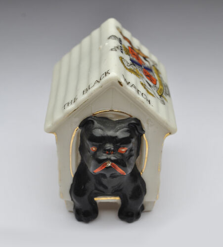 The Black Watch Porcelain Bull Dog Kennel - WW1 Tadcaster