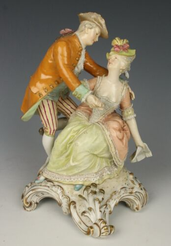 "Antique KPM Berlin Figurine ""Courting Couple"" WorldWide"