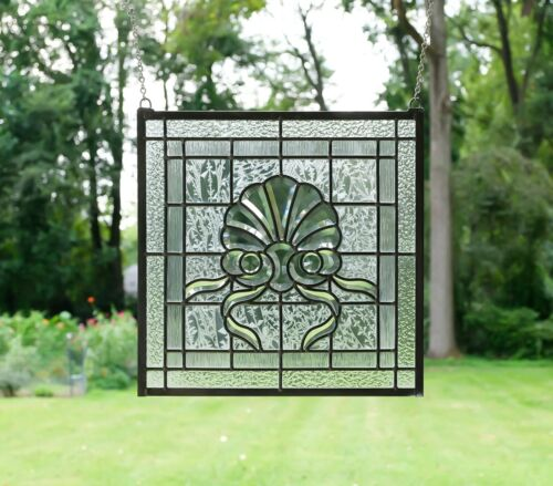 """Tiffany Style stained glass Clear Beveled window panel,16"""" x16"""""""