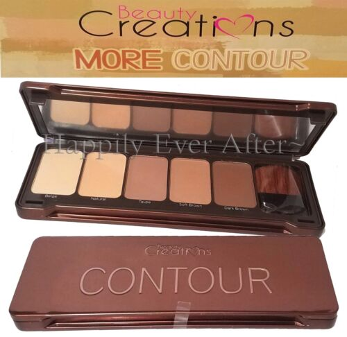 Contour Palette w/ Brush- Beauty Creations 5 Natural Shades to Contour Face