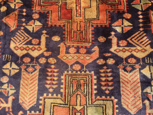 5x10 HAND KNOTTED PERSIAN IRAN HERIZ RUG RUNNER WOVEN WOOL MADE 5 x 10 ANTIQUE 4