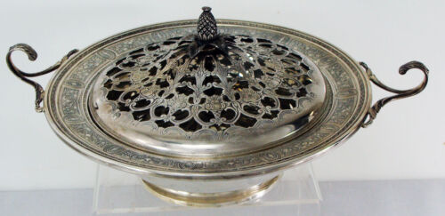 Wedgwood by International Sterling Flower Centerpiece Bowl with Handles & Cover