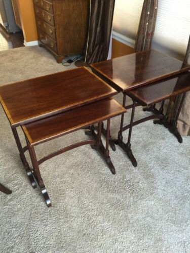 Pair Of Mahogany Henredon Nesting Tables - Exquisite! (Excellent Condition!)