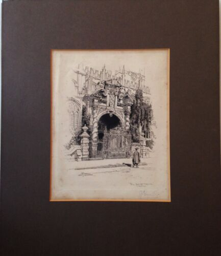 """""""Porch Gate St. Mary the Virgins"""", 1884 etching by Joseph Pennell"""