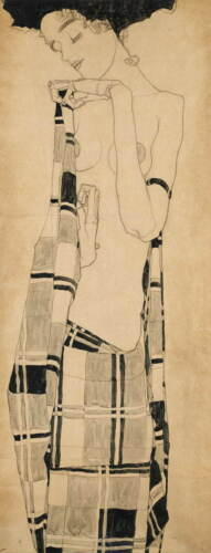 Egon Schiele Standing Girl Poster Reproduction Paintings Giclee Canvas Print