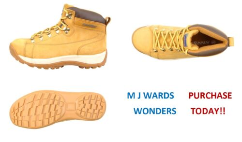Mid Cut Nubuck Safety Boots - Padded Collar and Comfortable Linings