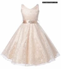 Vestito Bambina Abito Cerimonia Pizzo Elegante Girl Party Princess Dress  CDR057 41e178f7aaf