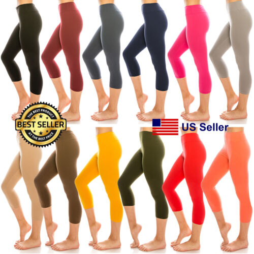 "Women 12""inch Dancer Shorts Biker YOGA Plain Solid Shorts Stretchy Leggings"