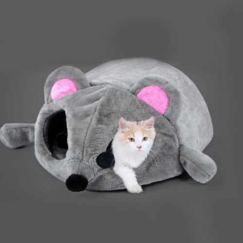 Fashion Cat Dog Kitten Cave Pet Bed House Puppy Sleeping Mat Pad Nest Mouse DF