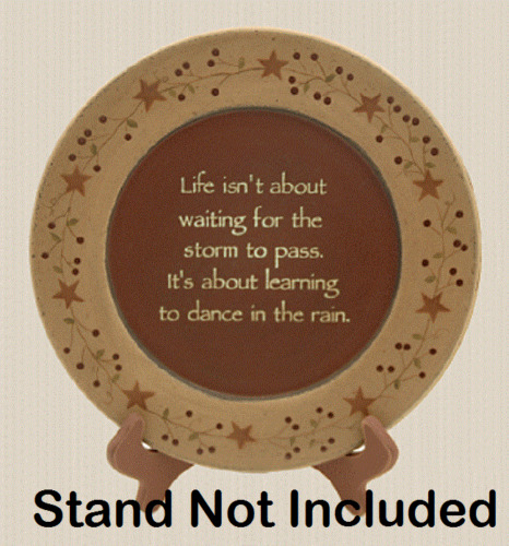Dance in The Rain Plate - Primitive, Country, New, Stars N Berry Garland