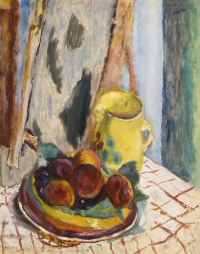 Pierre Bonnard Still Life To Fisheries And The Yellow Pot Canvas 16 x 20  #7227