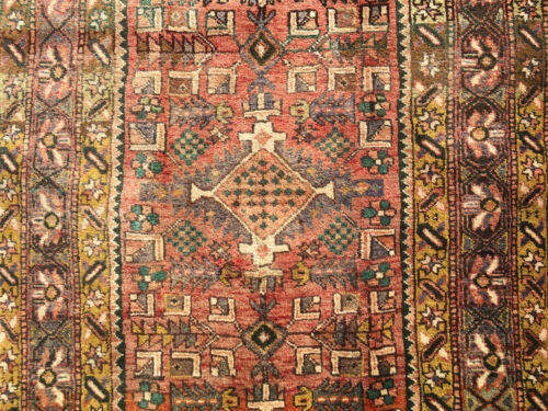 3x11 HAND KNOTTED PERSIAN IRAN HERIZ RUG RUNNER WOVEN MADE 3 x 11 ANTIQUE 4 10 5